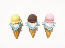 double ice cream brooch