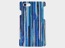 ラグ編みブランケットモチーフ(blue)iphone6plus/6splus/7plus 等大サイズ対応ハードケース