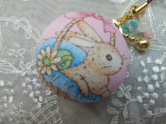 小型 やさしいウサギのマカロン ピン...