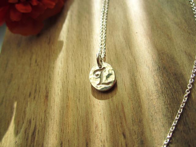 Initial Charm Necklace.