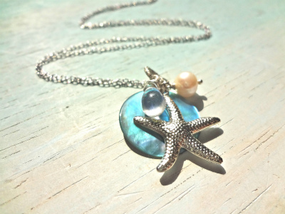 <SOLD>  starfish in the blue sea