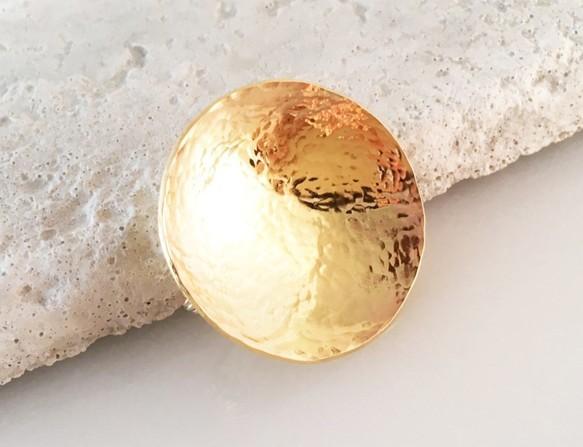 満月のブローチ◇真鍮