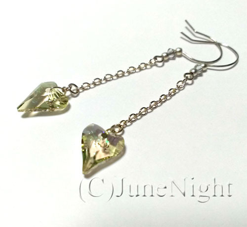 pierce*Dowsing heart - Crystal Luminous Green -