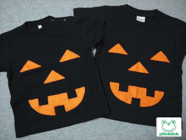 【H様オーダー品】ハロウィンTシャツ2点/90・100サイズ