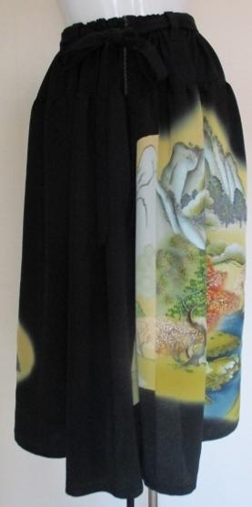 送料無料 色留袖で作ったスカート 2...