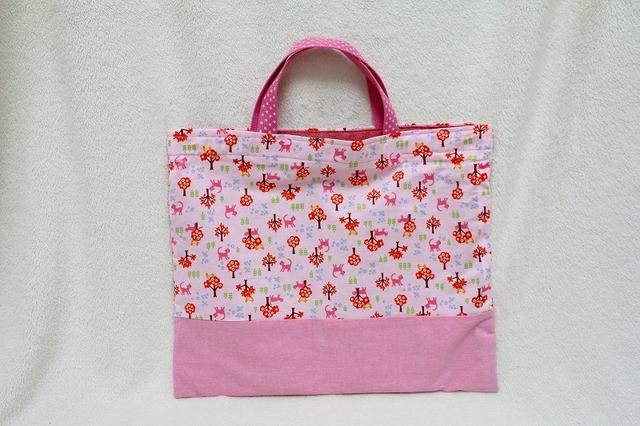 絵本袋 レッスンバッグ (ピンク)