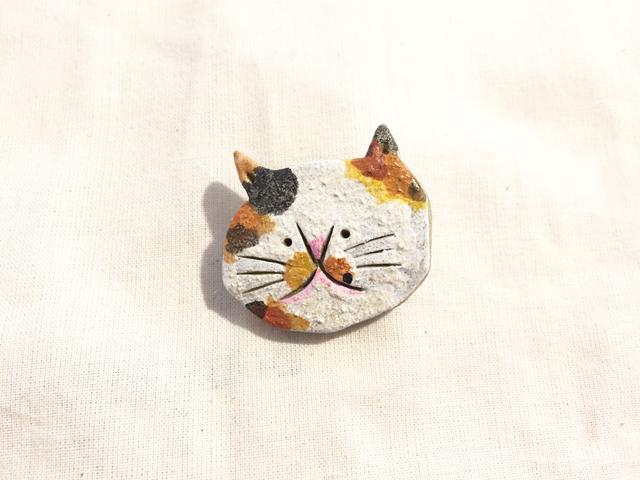猫さんブローチ(三毛猫)