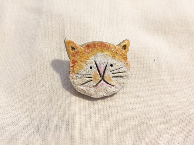 猫さんブローチ(茶トラ)