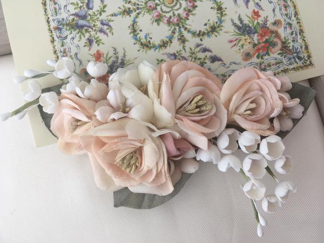 spring pink クリップ 薔薇/すずらん/...