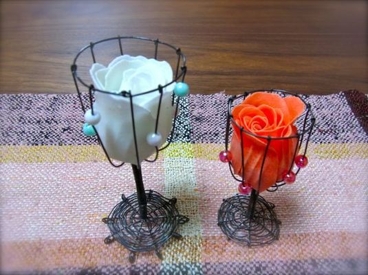 お花のペアカップ