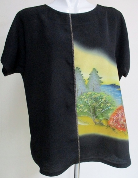 送料無料 着物リメイク 色留袖で作っ...