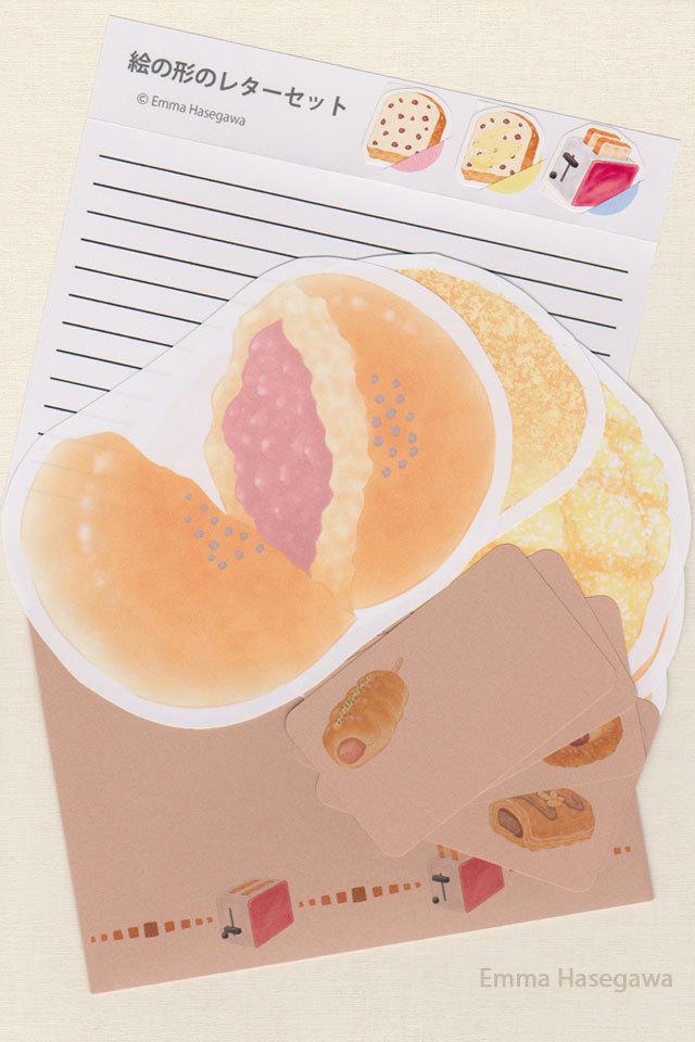パンの形のレターセット