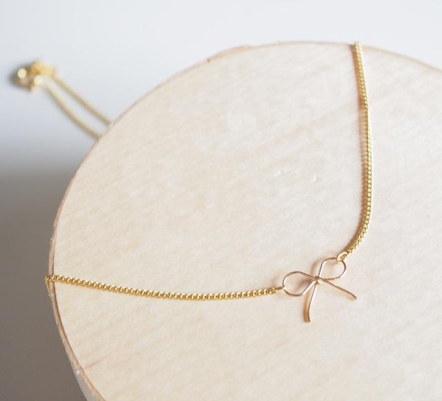 simple ribbon ネックレス