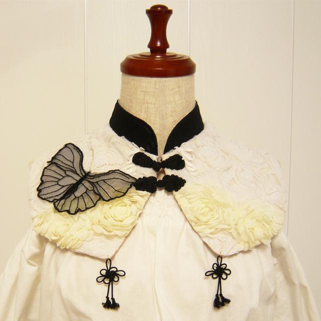 黒蝶の娘々クラシカル付ケ襟