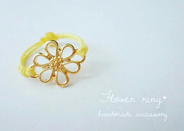 春の手元に咲く一輪の花?【flower ring*...