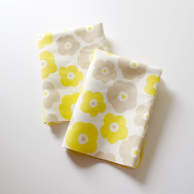 【カットクロス】popy (yellow-baige g...