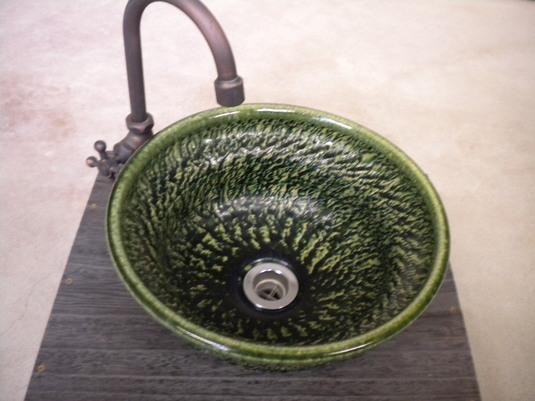 織部やつれ手洗い鉢