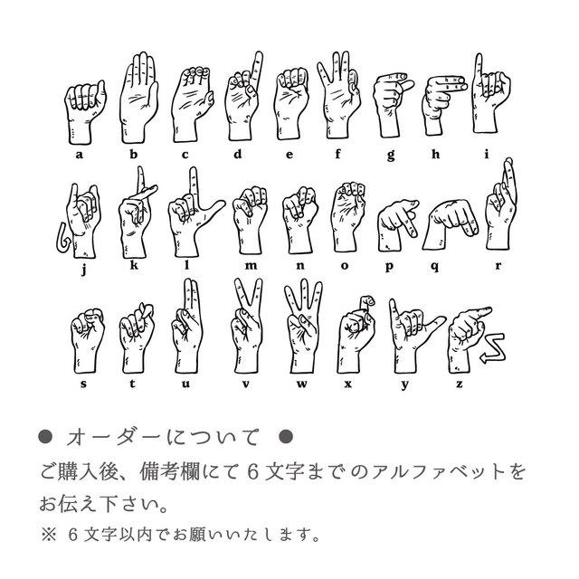 送料無料手話が学びたくなるオシャレ缶バッジ Atoz Sign Language