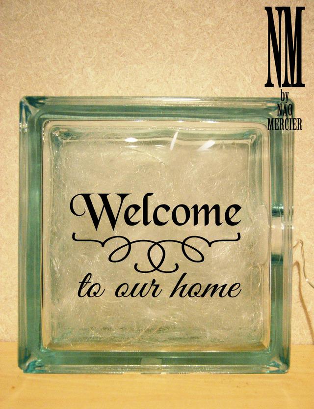 LED ���饹�֥�å��饤�ȡ�Welcome to our home��
