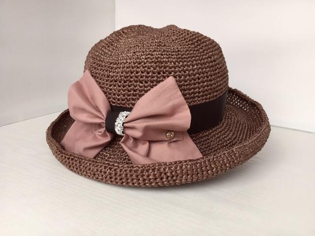 りぼんの手編み帽子
