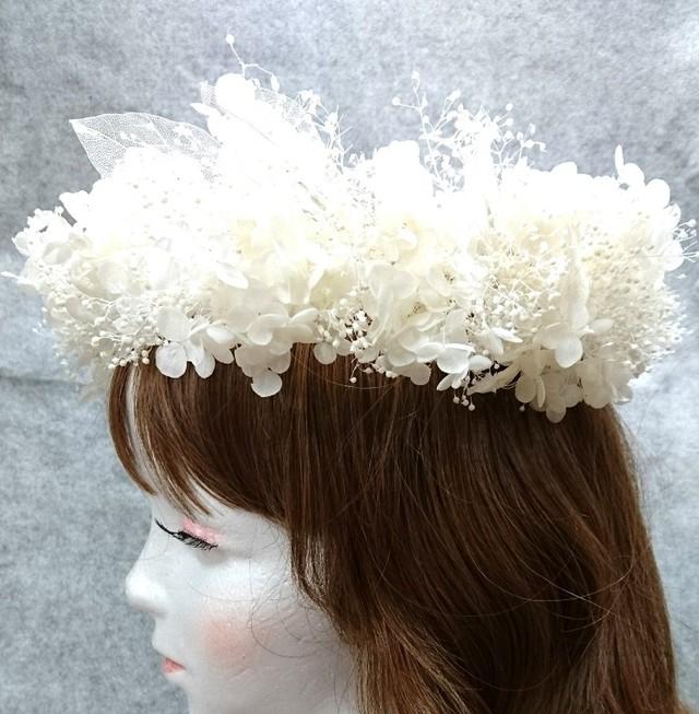 ホワイト花冠