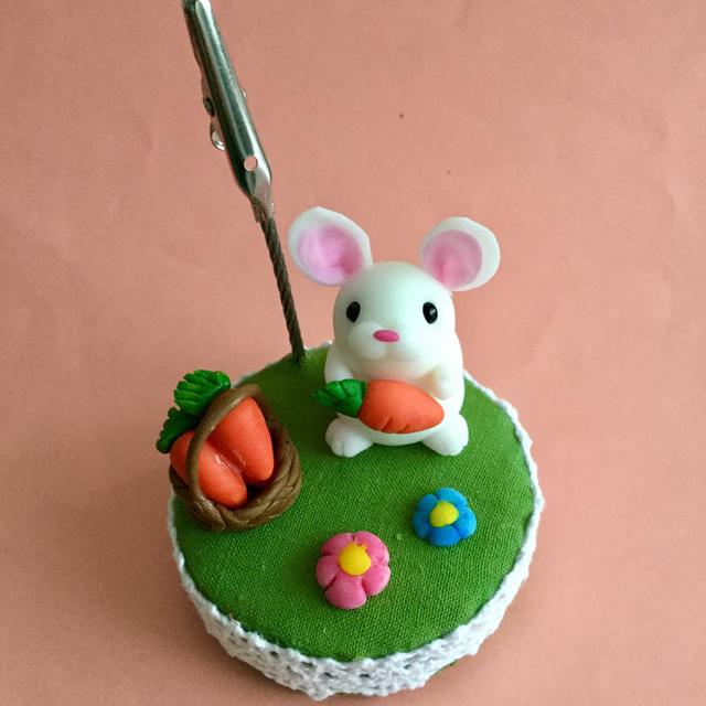 ウサギさんのメモスタンド