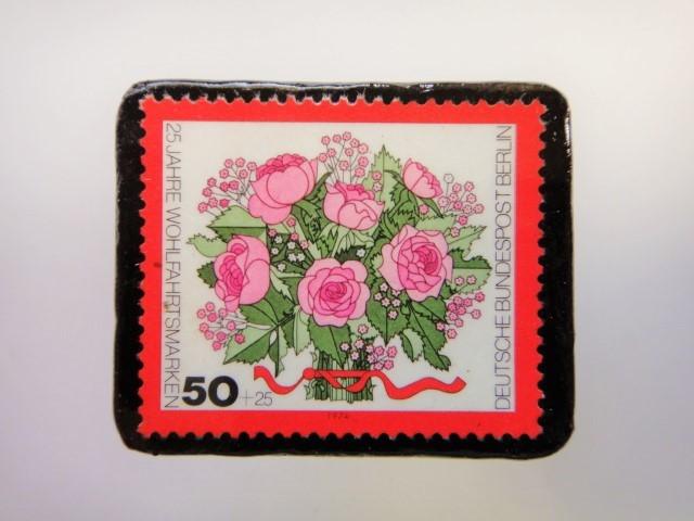 ドイツ 花束切手ブローチ2502