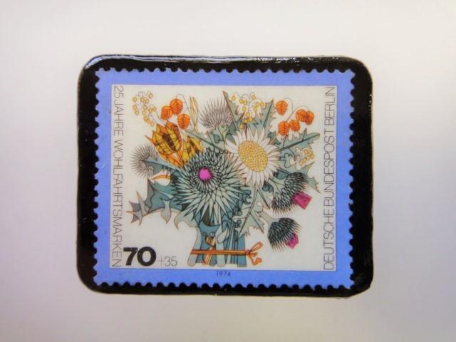 ドイツ 花束切手ブローチ2503