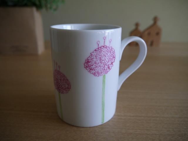 アリウムのマグカップ(ピンク)