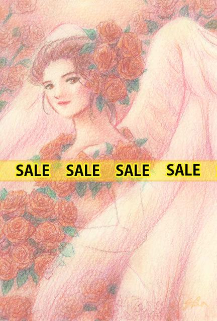 花の天使・バラ(151102)【手描き原画】