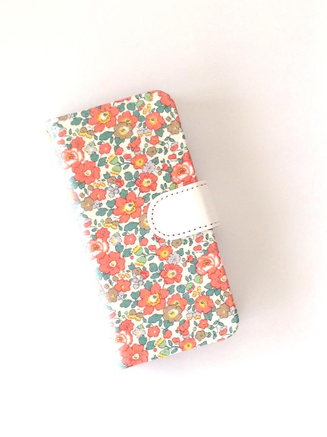 リバティiphone5 5S SE 手帳型ケース(布柄自由オーダーページ)ストラップ無し