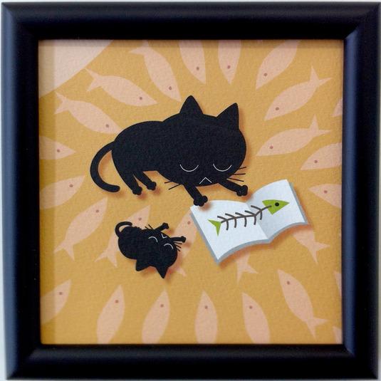 黒猫と絵本 C-04