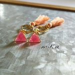 ~*Swaying triangle shell tassel*~ピアス