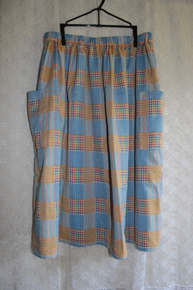 パッチワーク柄のスカート *フリーサイズ