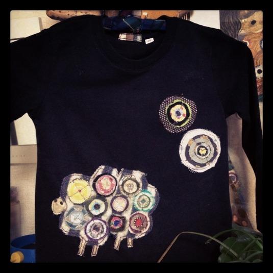 コラージュ Tシャツ 「Kuem」
