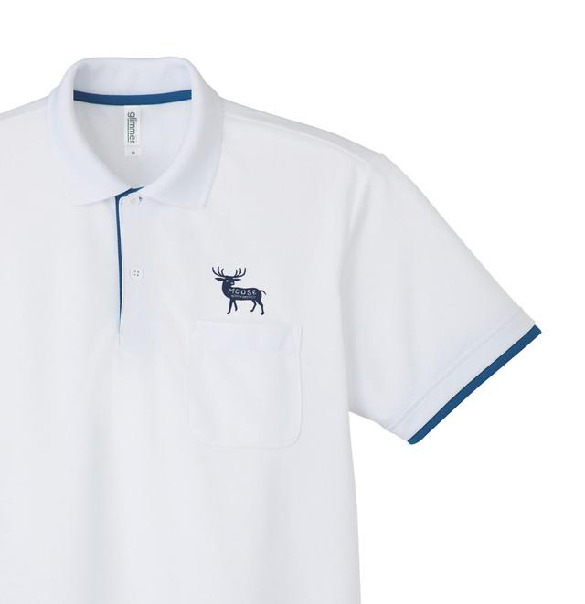 moose  レイヤードポロシャツ SS〜XL【受注生産品】