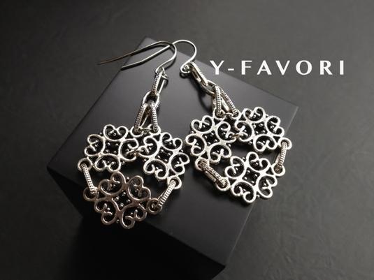 metal silver*design ピアス