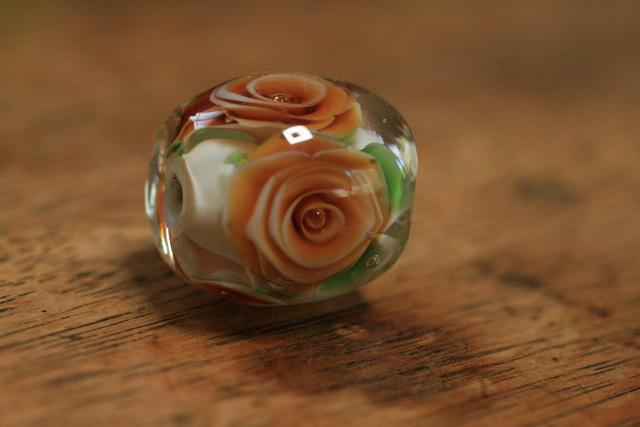 glass beads (とんぼ玉)薔薇玉/キナ...