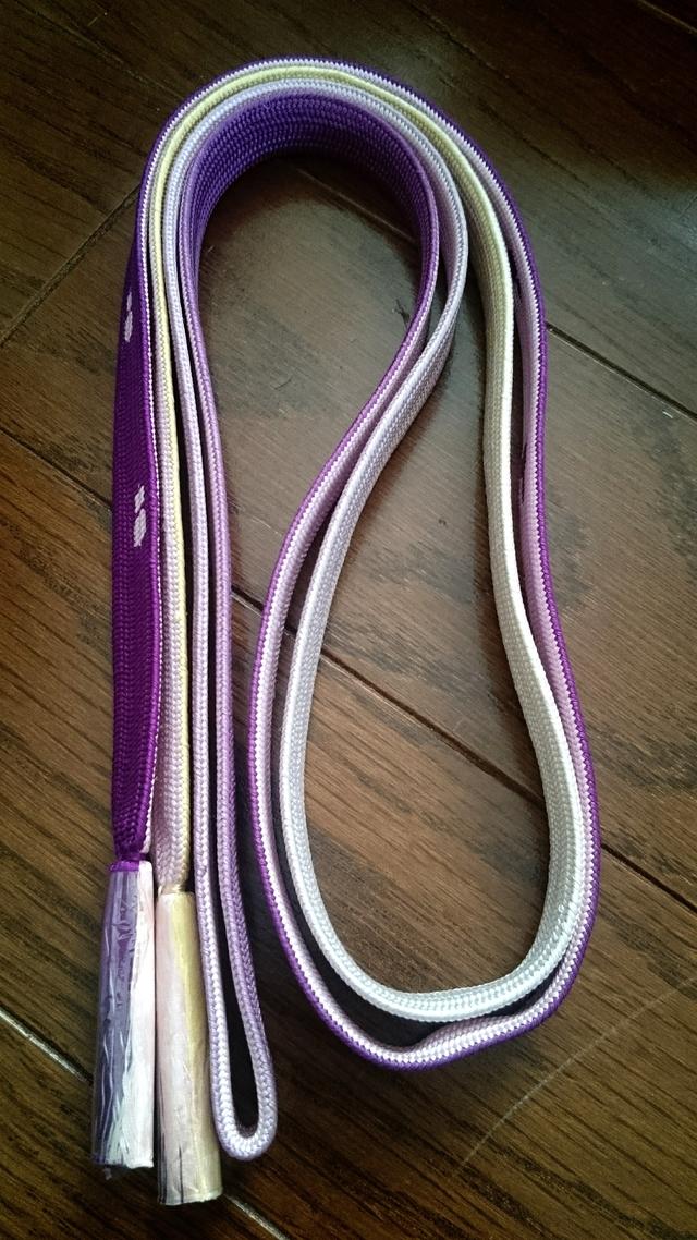 正絹 手織りの帯締め