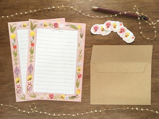 花模様のレターセット