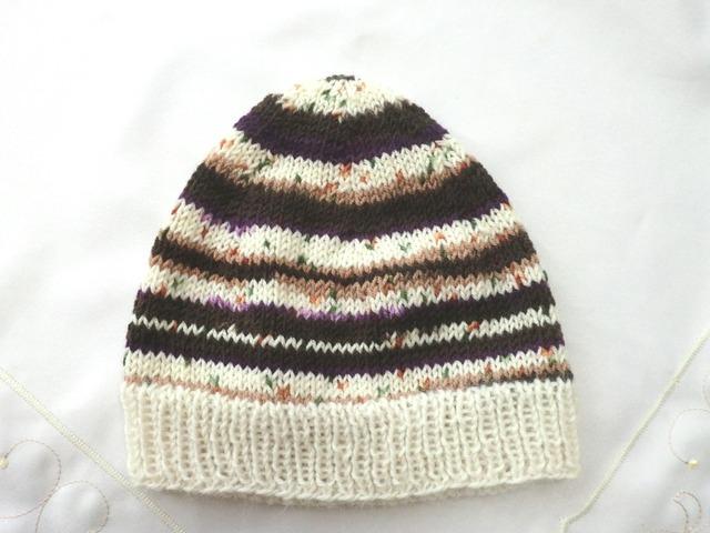 おしゃれボーダーの帽子 46〜50cm