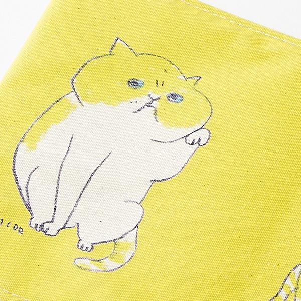 ブックカバー 黄ネコス