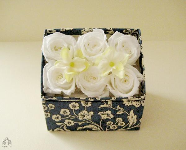 貼り箱のフラワーボックス[Rose]01