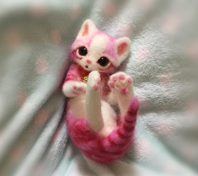 ピンクの子猫しゃん