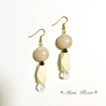 beige et woodenness*ピアス/イヤリング