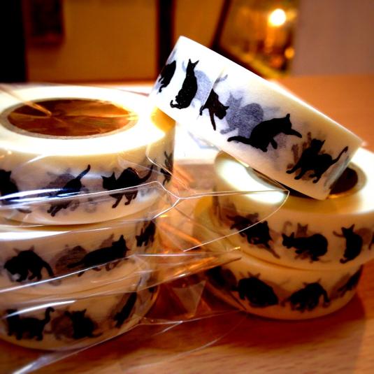 【再々生産完了!】クロニャーマスキングテープ