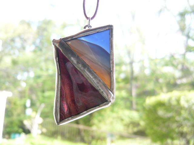ステンドグラス「2色」ネックレス