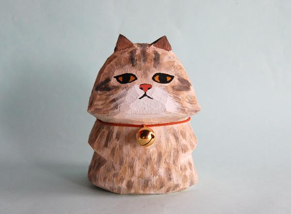 木彫り人形ネコ Bigペルちゃん [MWF-074]