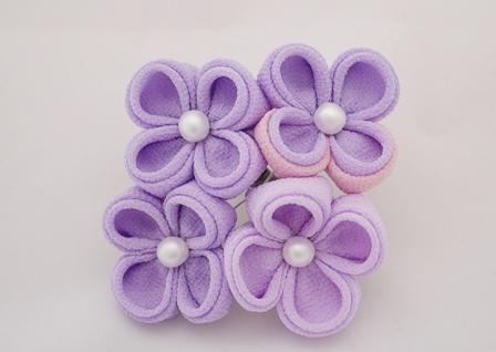 つまみ細工 紫陽花 4輪