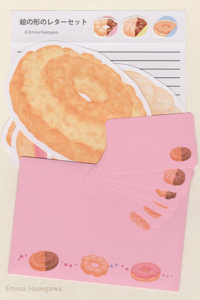 ドーナツの形のレターセット